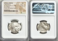 ATTICA. Athens. Ca. 440-404 BC. AR tetradrachm (26mm, 17.22 gm, 3h). NGC AU 5/5 - 5/5. Mid-mass coinage issue. Head of Athena right, wearing crested A...