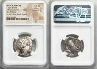 ATTICA. Athens. Ca. 440-404 BC. AR tetradrachm (24mm, 17.18 gm, 10h). NGC Choice VF 5/5 - 3/5. Mid-mass coinage issue. Head of Athena right, wearing c...