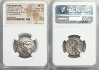 PHOENICIA. Tyre. Ca. 126/5 BC-AD 67/8. AR shekel (23mm, 13.77 gm, 12h). NGC VF 4/5 - 4/5. Dated Civic Year 162 (AD 36/7). Laureate bust of Melqart rig...