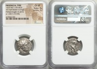 PHOENICIA. Tyre. Ca. 126/5 BC-AD 65/6. AR half-shekel (20mm, 6.63 gm, 1h). NGC Choice VF 4/5 - 3/5. Dated Civic Year 130? (AD 5/4). Laureate head of M...