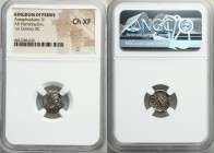 PERSIS KINGDOM. Autophradates IV (1st century BC). AR hemidrachm (12mm, 11h). NGC Choice XF. Persepolis. Diademed bust right, crescent above head / Fi...