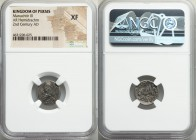 PERSIS KINGDOM. Manuchtir III (2nd century AD). AR hemidrachm (15mm, 11h). NGC XF. Istakhr (Persepolis). Bearded bust left, wearing diadem and Parthia...