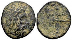 Kingdom of Macedon, Philip V. Uncertain mint in Macedon,221-179 BC. Æ22, 7.75 g. Head of Zeus right / BAΣIΛEΩΣ PHIΛΙΠΠΟΥ thunderbolt, all within oak w...