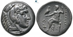 Kings of Macedon. Amphipolis. Kassander 306-297 BC. In the name and types of Alexander III. Struck circa 307-297 BC. Tetradrachm AR