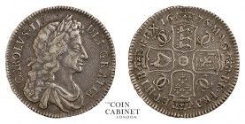 BRITISH COINS. Charles II, 1660-85. Halfcrown, 1676, London. Retrograde 1. 14.63 g. 33 mm. S.3367. A most pleasing, very fine example with original to...
