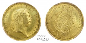 BRITISH COINS. George III, 1760-1820. Gold Guinea, 1813, London. PCGS MS63. 8.40 g. 24 mm. S.3730. This the last guinea date of 1813 was struck to pay...