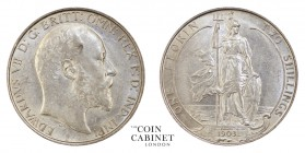 BRITISH COINS. Edward VII, 1901-10. Florin, 1903, London. 11.31 g. 28.3 mm. Mintage: 995,000. S.3981. Extremely fine.