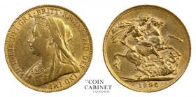 BRITISH GOLD SOVEREIGNS. Victoria, 1837-1901. Gold Sovereign, 1898, London. Old head. 7.99 g. 22.05 mm. Mintage: 4,361,347. S.3874, Marsh 149. Old vei...