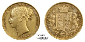 AUSTRALIAN GOLD SOVEREIGNS. Victoria, 1837-1901. Gold Sovereign, 1885-M, Melbourne. Shield. 7.98 g. 22.05 mm. Mintage: 2,967,143. S.3854A; Marsh 66. G...
