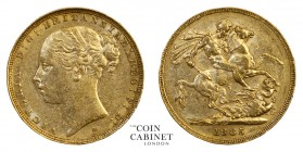 AUSTRALIAN GOLD SOVEREIGNS. Victoria, 1837-1901. Gold Sovereign, 1885-M, Melbourne. St George. 7.98 g. 22.05 mm. Mintage: 2,967,143. S.3857C; Marsh 10...