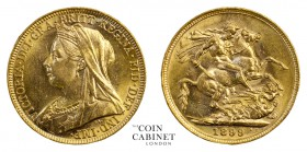 AUSTRALIAN GOLD SOVEREIGNS. Victoria, 1837-1901. Gold Sovereign, 1899-M, Melbourne. Old head. 7.99 g. 22.05 mm. Mintage: 5,579,157. S.3875; M.159; McD...