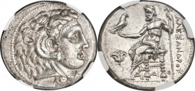 MACEDONIAN KINGDOM. Alexander III the Great (336-323 BC). AR tetradrachm (27mm, 17.20 gm, 11h). NGC MS 5/5 - 3/5, Fine Style. Early Ptolemaic issue of...