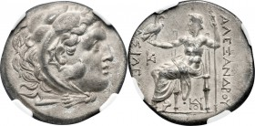 THRACE. Odessus. ca. 280-200 BC. AR tetradrachm (30mm, 16.33 gm, 11h). NGC MS 4/5 - 2/5, Fine Style. Posthumous issue in the name and types of Alexand...
