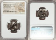 EASTERN EUROPE. Imitative of Philip II (ca. 3rd century BC). AR tetradrachm (22mm, 13.17 gm, 8h). NGC Choice VF 5/5 - 3/5, edge filing. Driezack type....