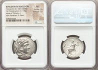 MACEDONIAN KINGDOM. Alexander III the Great (336-323 BC). AR tetradrachm (26mm, 17.13 gm, 12h). NGC MS 4/5 - 3/5. Late lifetime or early posthumous is...
