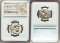 MACEDONIAN KINGDOM. Alexander III the Great (336-323 BC). AR tetradrachm (25mm, 17.13 gm, 4h). NGC AU 5/5 - 4/5. Susa, under Seleucus I Nicator, ca. 3...