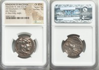 MACEDONIAN KINGDOM. Alexander III the Great (336-323 BC). AR tetradrachm (25mm, 17.21 gm, 10h). NGC Choice XF S 5/5 - 5/5. Lifetime issue of Myriandru...