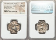 MACEDONIAN KINGDOM. Alexander III the Great (336-323 BC). AR tetradrachm (26mm, 17.01 gm, 12h). NGC XF 5/5 - 5/5. Posthumous issue of Sardes, ca. 319-...