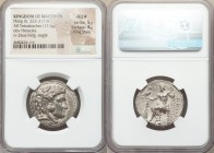 MACEDONIAN KINGDOM. Philip III Arrhidaeus (323-317 BC). AR tetradrachm (26mm, 17.06 gm, 12h). NGC AU S 5/5 - 4/5, Fine Style. Lifetime or early posthu...