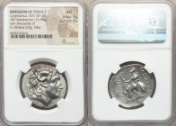 THRACIAN KINGDOM. Lysimachus (305-281 BC). AR tetradrachm (30mm, 16.90 gm, 11h). NGC AU 5/5 - 4/5. Uncertain Macedonian mint, ca. 288/7-282/1 BC. Diad...