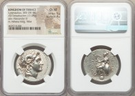 THRACIAN KINGDOM. Lysimachus (305-281 BC). AR tetradrachm (31mm, 17.08 gm, 12h). NGC Choice XF 5/5 - 4/5. Diademed head of deified Alexander III right...
