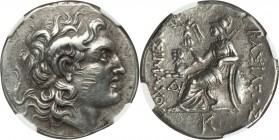 THRACIAN KINGDOM. Lysimachus (305-281 BC). AR tetradrachm (29mm, 17.09 gm, 8h). NGC XF 5/5 - 3/5, scuff. Lifetime or early posthumous issue of uncerta...