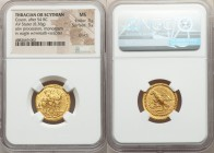 THRACIAN DYNASTS. Coson (ca. after 54 BC). AV stater (21mm, 8.38 gm, 12h). NGC  MS 3/5 - 3/5, scratch. Ca. 44-42 BC. Roman consul (L. Junius Brutus) w...