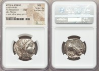 ATTICA. Athens. Ca. 440-404 BC. AR tetradrachm (26mm, 17.21 gm, 9h). NGC MS 4/5 - 4/5. Mid-mass coinage issue. Head of Athena right, wearing crested A...