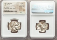 ATTICA. Athens. Ca. 440-404 BC. AR tetradrachm (25mm, 17.21 gm, 10h). NGC Choice XF 5/5 - 3/5. Mid-mass coinage issue. Head of Athena right, wearing c...