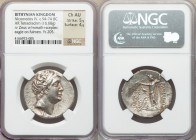 BITHYNIAN KINGDOM. Nicomedes IV (94-74 BC.) AR tetradrachm (30mm, 16.68 gm, 12h). NGC Choice AU 5/5 - 4/5. Dated Bithynian Era 205 (93/2 BC). Diademed...