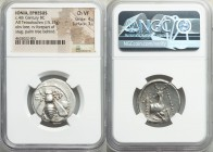 IONIA. Ephesus. Ca. 390-325 BC. AR tetradrachm (25mm, 15.17 gm, 12h). NGC Choice VF 4/5 - 3/5. Ca. 350-330 BC. Mantikrates, magistrate. E-Φ, bee with ...