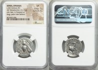 IONIA. Ephesus. Ca. 390-325 BC. AR tetradrachm (23mm, 15.11 gm, 1h). NGC VF 5/5 - 4/5. Demokrates as magistrate. ca. 350-340 BC. Bee with straight win...