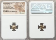 IONIA. Phocaea. Ca. 477-388 BC. EL sixth stater or hecte (10mm, 2.57 gm). NGC Choice XF 5/5 - 4/5. Head of Athena left, wearing crested Attic helmet d...