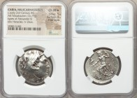 CARIA. Halicarnassus(?). Ca. early 2nd century BC. AR tetradrachm (29mm, 16.77 gm, 11h). NGC Choice XF S 5/5 - 4/5, Fine Style. In the name and types ...