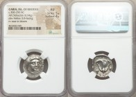 CARIAN ISLANDS. Rhodes. Ca. 300-250 BC. AR didrachm (19mm, 6.94 gm, 12h). NGC AU 5/5 - 4/5. Head of Helios facing slightly to right / POΔION, rose wit...