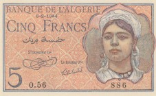 Algeria, 5 Francs, 1944, UNC, p94