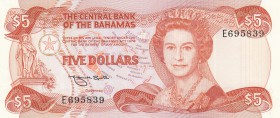 Bahamas, 5 Dollars, 1984, UNC, p45b