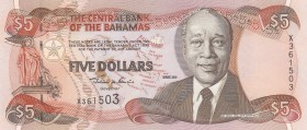 Bahamas, 5 Dollars, 2001, UNC, p63b