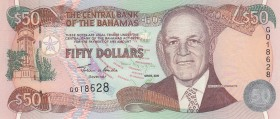 Bahamas, 50 Dollars, 2000, UNC, p66
