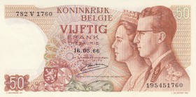 Belgium, 50 Francs, 1966, UNC, p139