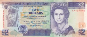Belize, 2 Dollars, 1990, UNC, p52a