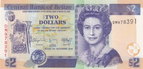 Belize, 2 Dollars, 2014, UNC, p66e