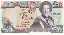 5 Pcs Lot Jersey 1 Pound 2000 Unc- P-26 QEII Prefix Adc
