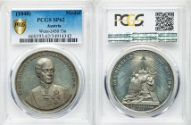 "Franz Joseph I tin Specimen ""Accession"" Medal 1848 SP62 PCGS, Wurz-2450. 44mm. By C. Rabausch. Uniformed bust facing / Arms. On Franz Joseph's accessi..."