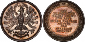 Karl Ludwig silver Specimen Medal 1859 SP63 PCGS, Morosini-1481, A.Bene-1859-01, Horsky-3778. 52mm. 53.53gm. By Carl Radnitzky. Crowned imperial eagle...