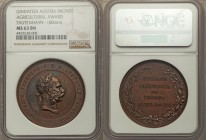 "Franz Joseph I bronze ""Agricultural Award"" Medal ND (c. 1870) MS63 Brown NGC, 40mm. 37.82gm. By Tautenhayn. Bust right / Legend in 5 lines within wrea..."
