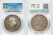 "Franz Joseph I silver Specimen ""Horse-Breeding Prize"" Medal ND (1848-1916) SP62 PCGS, Hauser-2833. By J. Tautenhayn. 40mm. 15.40gm. FRANC • IOS • I • ..."