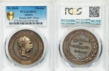 "Franz Joseph I silver Specimen ""Agricultural Prize"" Medal ND (Late 19th Century) SP62 PCGS, Hauser-2801. By Tautenhayn. 40mm. 34.81gm. FRANCISCVS JOSE..."