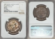 "Franz Joseph I silver ""The Rescue of Korlatkö"" Medal 1897 MS64 NGC, Unlisted in Hauser. 31mm. 11.09gm. By Leisek. St. Florian putting out the fire / L..."