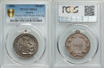 "Franz Joseph I silver ""50th Anniversary of the 1848 Austrian Revolution"" Medal 1898 MS64 PCGS, Hauser-1826, Wurzbach-9420. 29.3mm. 13.85gm. By Pittner..."